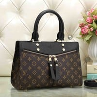 LV Louis Vuitton Fashion Women Leather Shoulder Bag Handbag Crossbody Satchel Black I-OM-NBPF