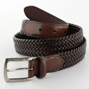 Dockers Braided Leather Belt, Size: