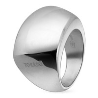Torrini Designer Rings Trapezoidal Sterling Silver Ring