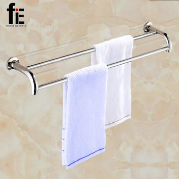 fiE Shower Room Towel Ball Rack Shelf on Plates in Polished For Home Bathroom Wall Mounted