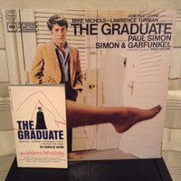 Vinyl Record Album and Book Combo The Graduate Original Soundtrack by Simon & Garfunkel LP with movie Tie In by Charles Webb