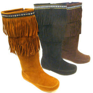 Brown Fringe Boots