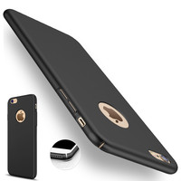 for iphone 7 Plus iphone7 Case Luxury Black Armor Thin Cases for iphone 6S 6 5S 5 SE Hard Back Protective Cover Slim Rose Gold -0315