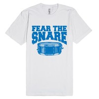 Fear The Snare (T Shirt)-Unisex White T-Shirt