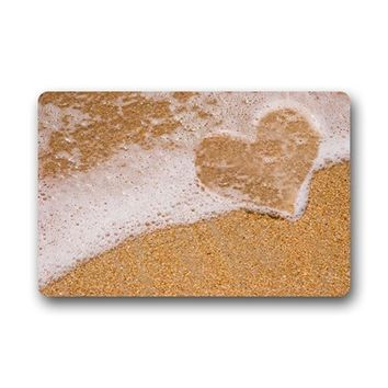 CHARM HOME Custom Beach Theme Door Mats Cover Non-Slip Machine Washable Outdoor Indoor Bathroom Kitchen Decor Rug Mat