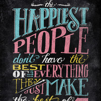 THE HAPPIEST PEOPLE... Art Print by Matthew Taylor Wilson