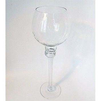 Tall Glass Cup Vase Candle Holder Wedding Vases Centerpiece, 14-inch