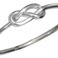 Sterling Silver Wire Infinity Knot Ring