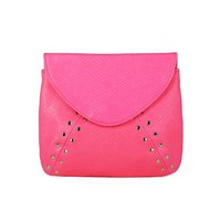 Candy Colored Studded Clutch Bag