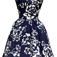 Navy Bliss Floral Tea Dress