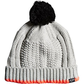 Fox Racing Girls Doozy Beanie Hat One Size Light Heather Grey