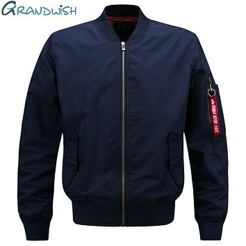 Grandwish 2017 Spring Pilot Bomber Jacket Men Patch Design Men Bomber Flight Pilot Jacket Coat Flight Bomber Jacket Men , PA900