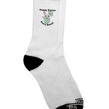 Happy Easter Every Bunny Adult Crew Socks  by TooLoud