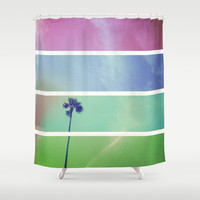 Palm Tree Shower Curtain by Whitney Retter