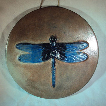 Handmade Stone Dragonfly, Garden Home Wall Hanging, Inside, Outside