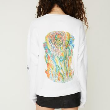 """Saintly Siren"" Unisex Fleece Sweatshirt"