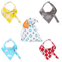 Trendy Bandana Bib - With Pacifier Clip for Teething and Feeding Babies - Adjustable Snap Closure - Colorful Cute Unisex Gift Set by Drool n' Dribble - ADD TO CART NOW!