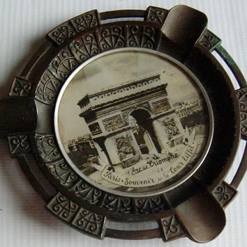 French L'Arc De Triomphe Ashtray Vintage Souvenir 1900s Art Nouveau