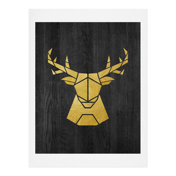 Nick Nelson Deer Symmetry Art Print
