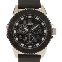 Black Rubber Analog Watch