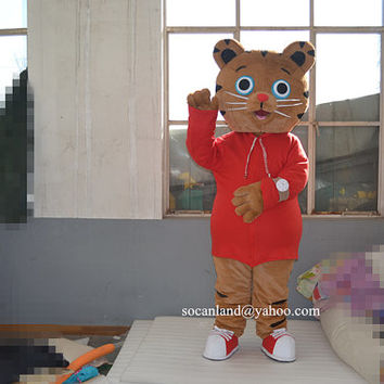 Daniel Tiger Big Belly Mascot Costumes,Cosplay Costumes,Costume,Clothing,Party Costume,Halloween Costume,Christmas Costume,Tiger Cosplay