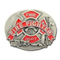 Firefighter Fire Dept Belt Buckle