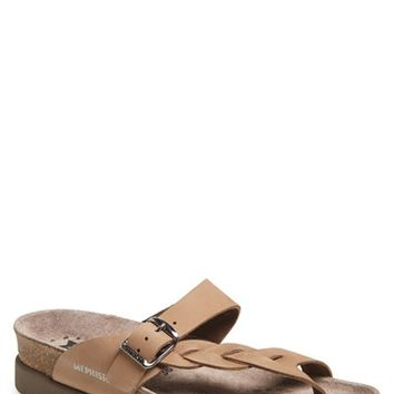 "Women's Mephisto 'Helen Twist' Nubuck Leather Sandal, 1"" heel"