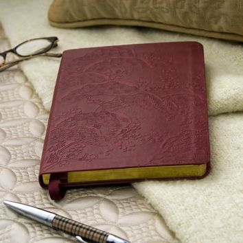 Cherry Blossoms Journal with Leather-Like Cover 6x8