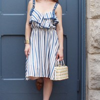 Baylee Striped Off the Shoulder Dress