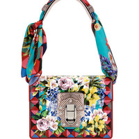 Dolce & Gabbana Caltagirone Scarf-Tie Shoulder Bag, Multi