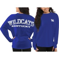 Kentucky Wildcats Women's Blue Aztec Sweeper Long Sleeve Top