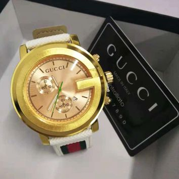 Gucci Hot Sale Fashionable Women Men Personality Movement Quartz Watches Wristwatch Jewelry I/A