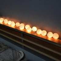 White Cotton Balls Hanging Lights Patio Wedding String Lights (20 Lights/Set)