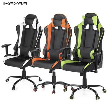 iKayaa Ergonomic Racing Style Gaming Office Chair Swivel Executive Computer Chair Armrest Adjustable Tilt Function
