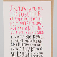 Emily McDowell Awkward Dating Card - Urban Outfitters