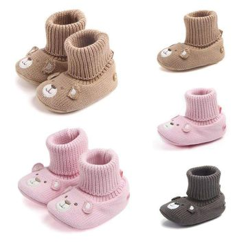 Cute Newborn Infant Baby Snow Boots Soft Sole Crib Shoes Warm Booties Prewalker