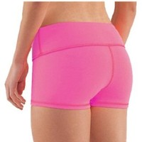 Yoga Shorts - Booty Shorts (Green, Large/10)