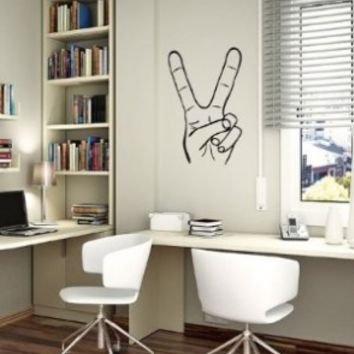 Wall Decals Hippie Hand Peace Sign Bedroom Living Any Room Vinyl Decal Sticker Home Decor L266