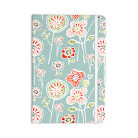 "Gill Eggleston ""Folky Floral Light Jade"" Blue Teal Everything Notebook"