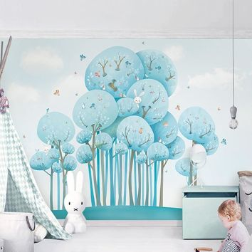 Custom Any Size Mural Wallpaper 3D Cartoon Forest Animal Photo Wall Paper Children's Bedroom Backdrop Wall Decor Papel De Parede