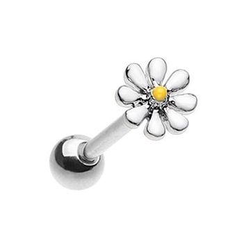Daisy Flower Barbell WildKlass Tongue Ring