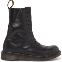 Vetements - + Dr. Martens Borderline Polished-Leather Boots