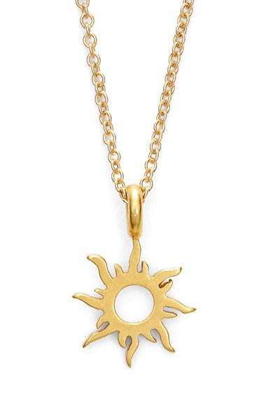 Womens dogeared good vibes only from nordstrom womens dogeared good vibes only sunburst pendant necklace aloadofball Images