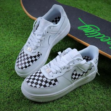 Best Online Sale 2018 Nike Air Force 1 Low Checkboard White Black Sport Shoes Sneaker 315115-112