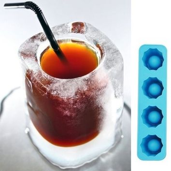 Random Color Ice Cube Tray Mold Makes Shot Glasses Ice Mould Novelty Gifts Ice Tray Summer Drinking Tool Glass Mold