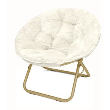 Urban Shop Micromink Papasan Chair Upholstery: White