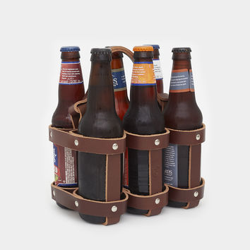 Leather 6 Pack Holder