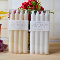 4Pc/ Set Classic European Style Smoke Free Tasteless Wax Romantic Wedding Ivory White Long Stick Candle
