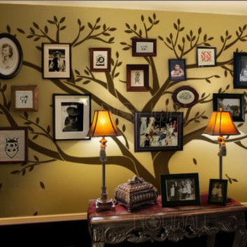 Family Tree Wall Decal - Photo frame tree Decal - Family Tree Wall Sticker