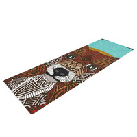 "Art Love Passion ""Colored Fox"" Blue Orange Yoga Mat"